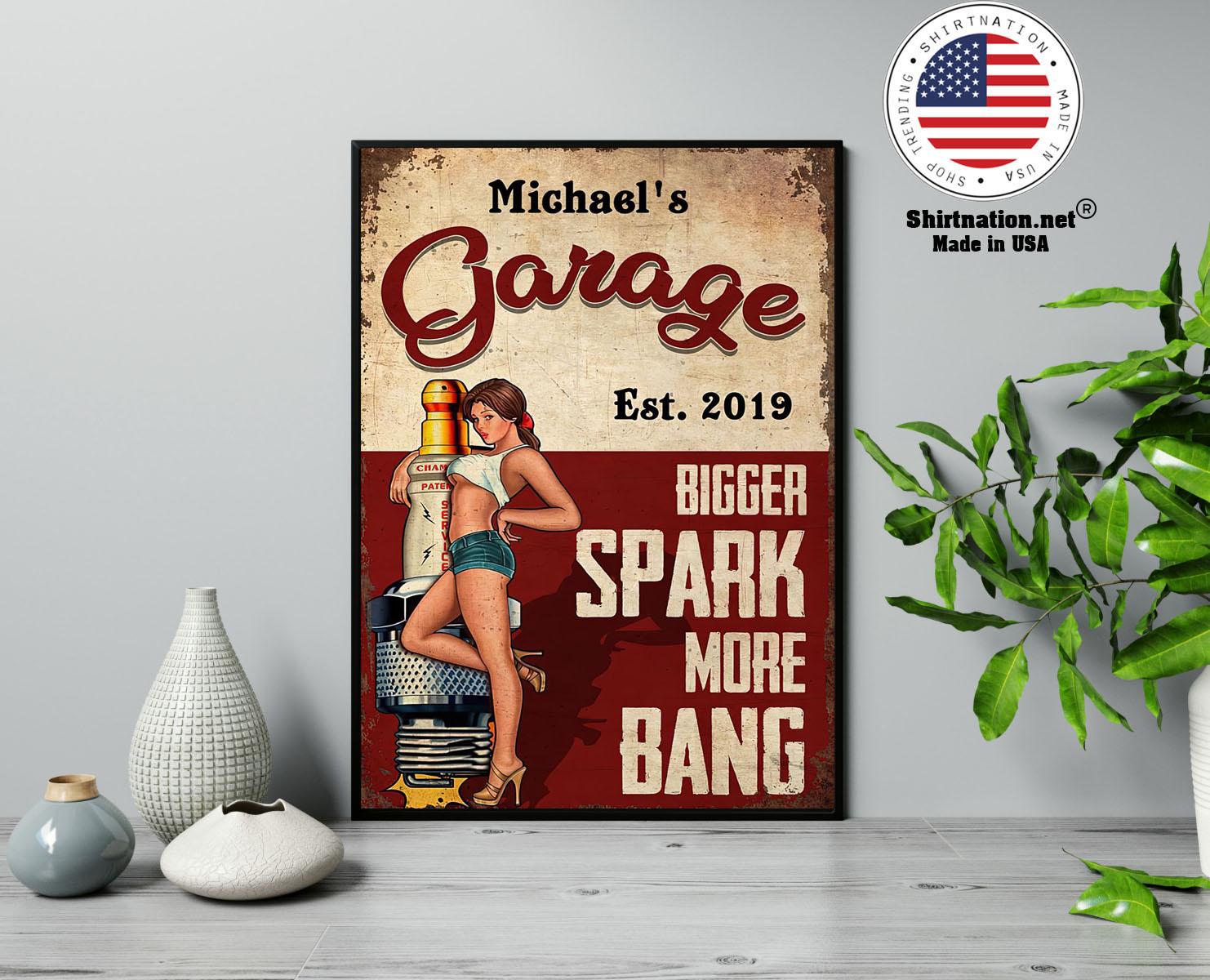 Garage bigger spark more bang poster 13