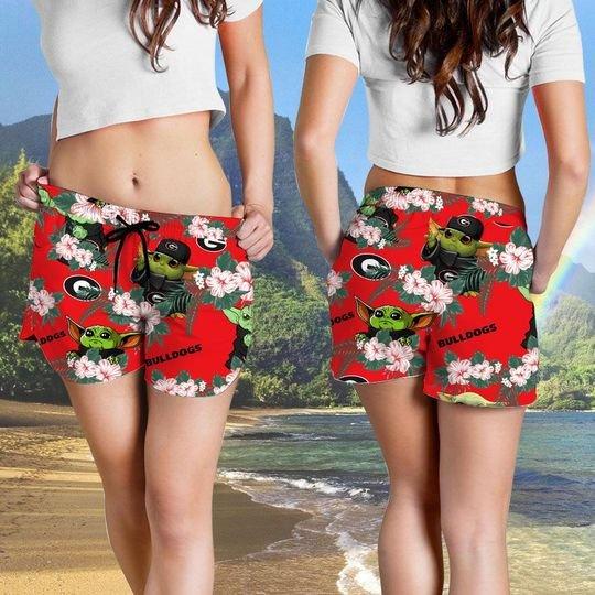 Georgia Bulldogs Yoda Hawaiian And Beach Short4