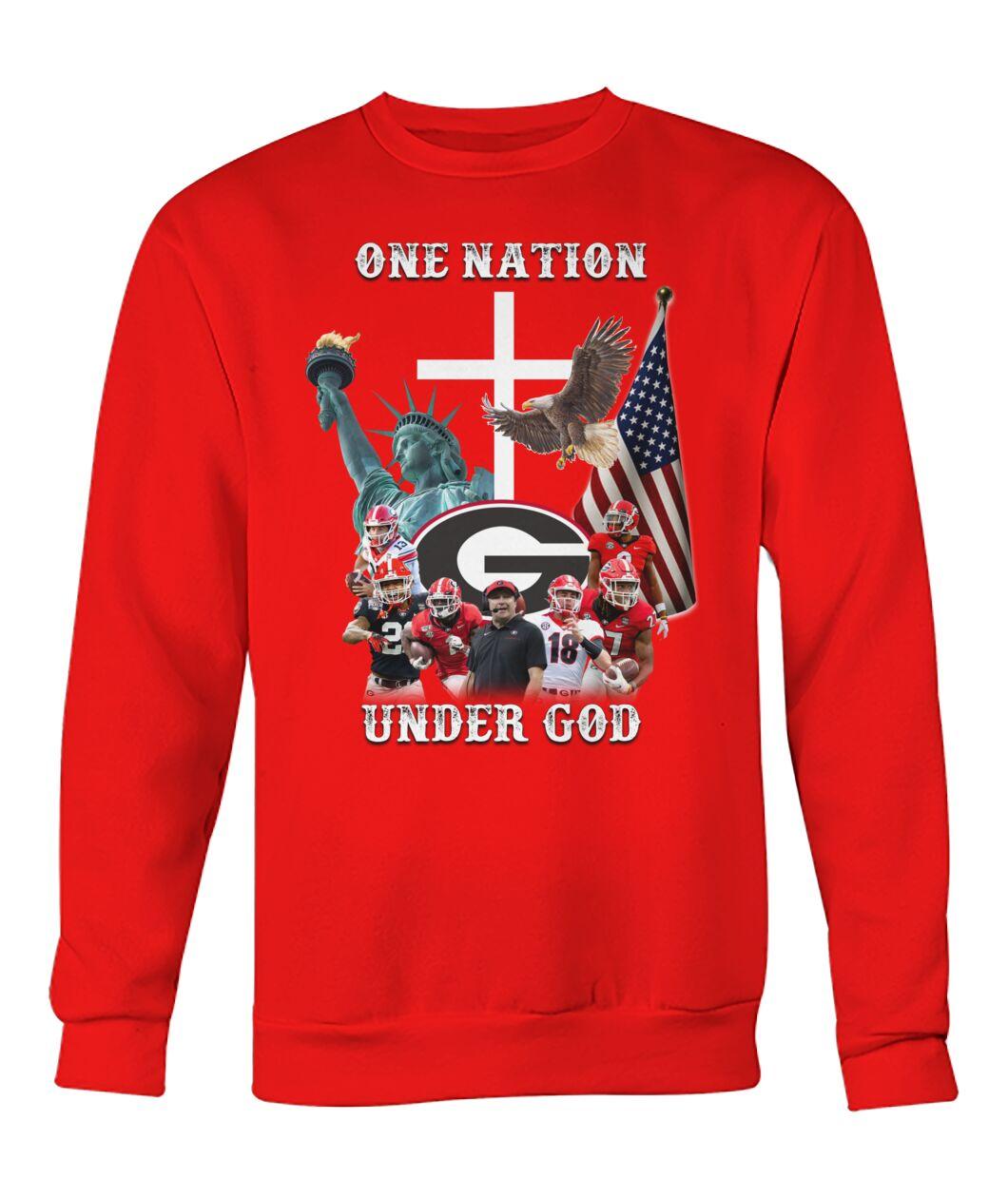 Georgia Bulldogs football One nation under god shirt 12