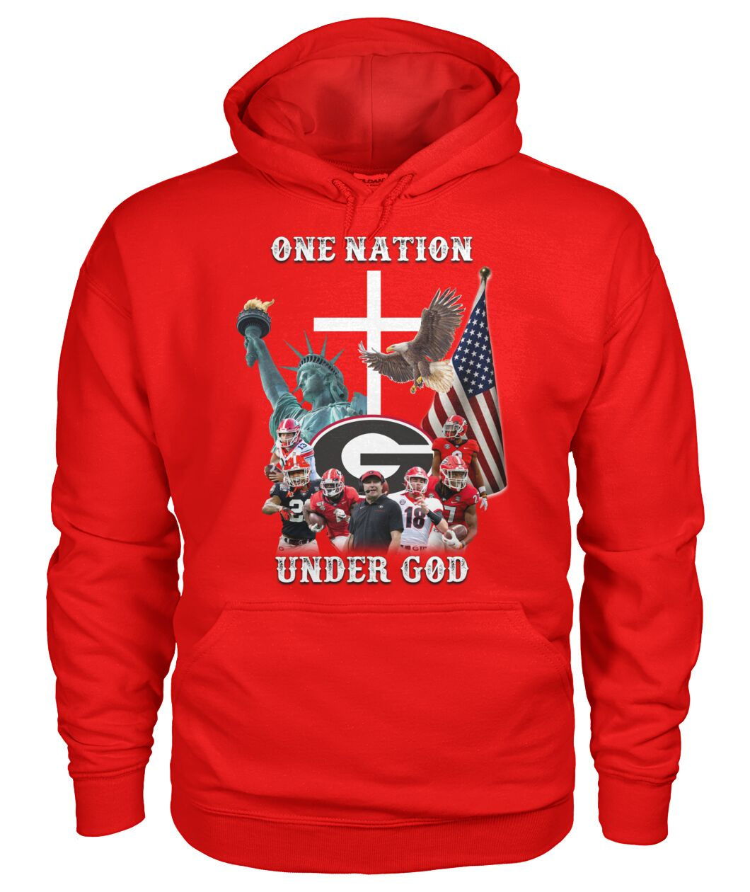 Georgia Bulldogs football One nation under god shirt 14