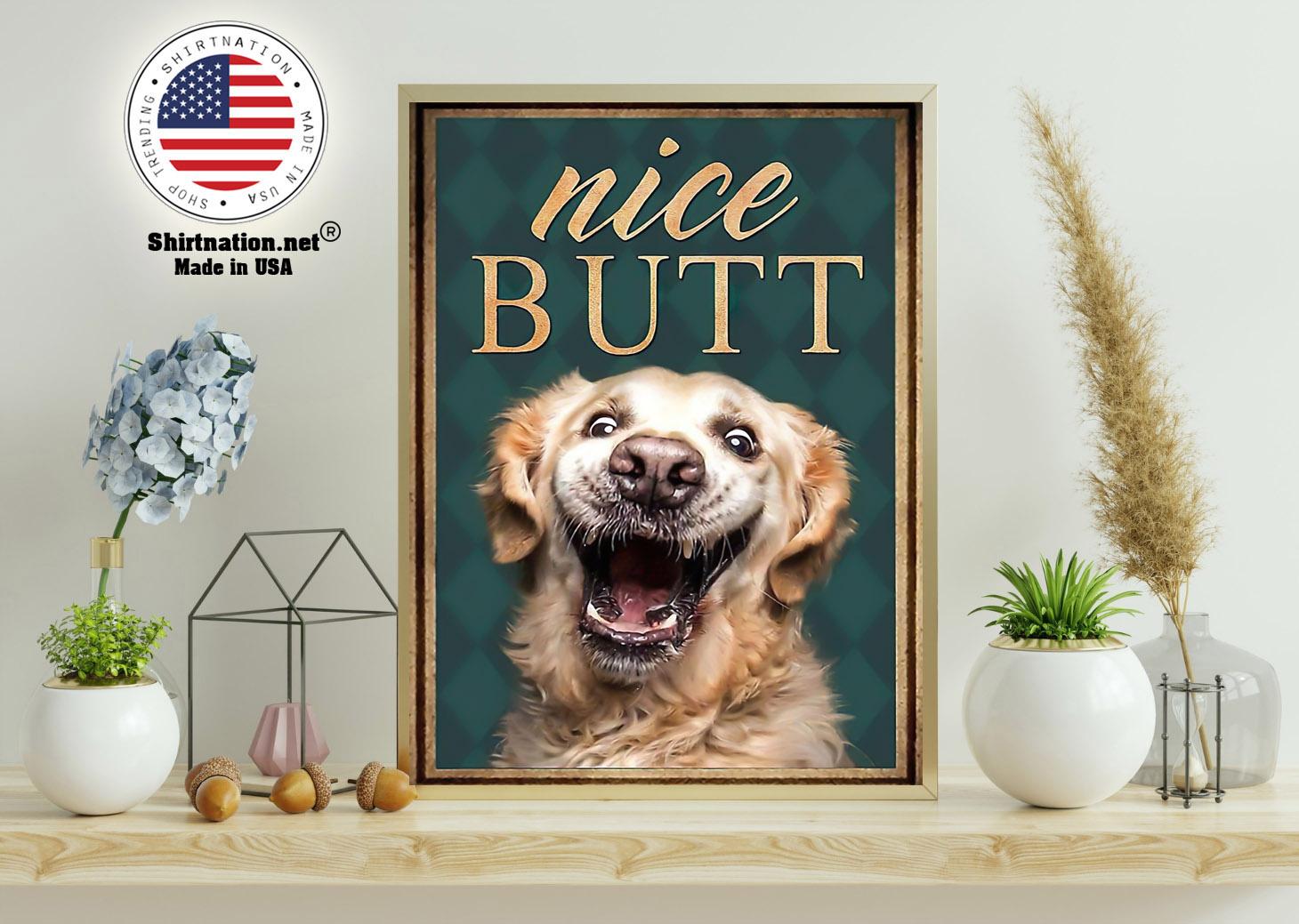 Golden retriever nice butt poster 11