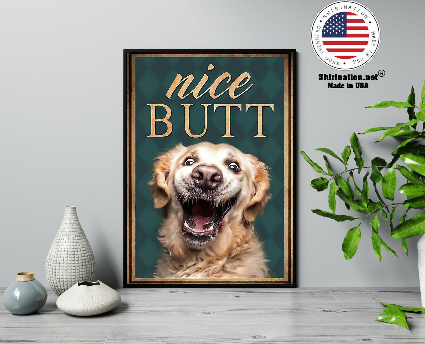 Golden retriever nice butt poster 13