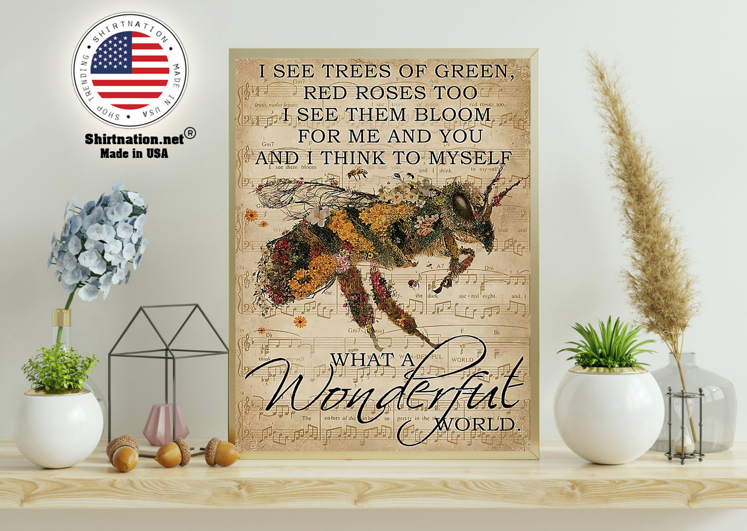 I see trees of green red roses too I see them bloom for me and you poster 11 1