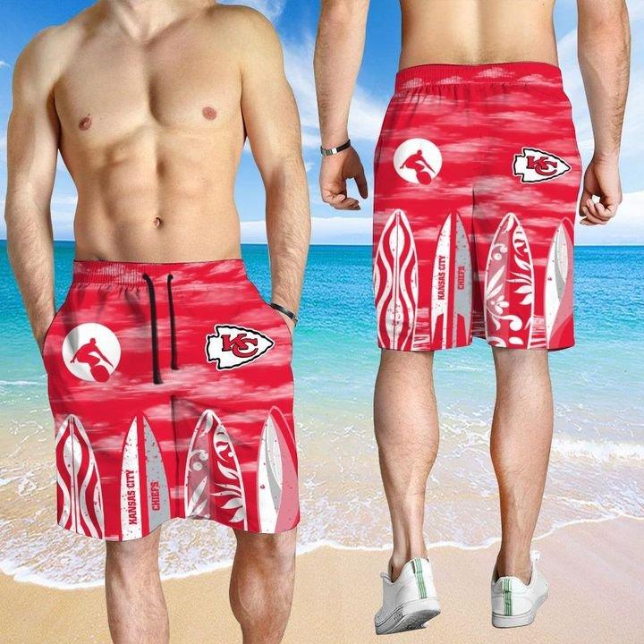Kansas City Chiefs HAWAIIAN And Beach SHORT3