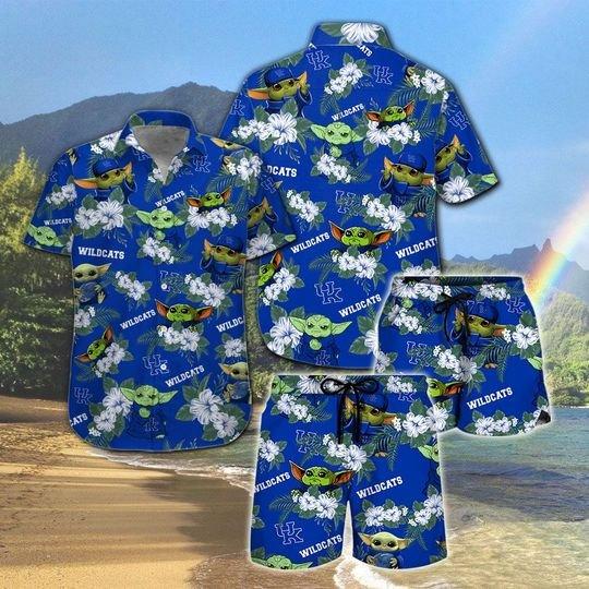 Kentucky Wildcats And Yoda Hawaiian And Beach Short1