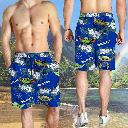 Kentucky Wildcats And Yoda Hawaiian And Beach Short4