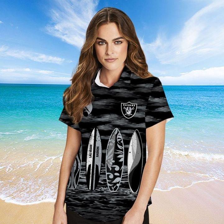 Las Vegas Raiders HAWAIIAN And Beach SHORT2