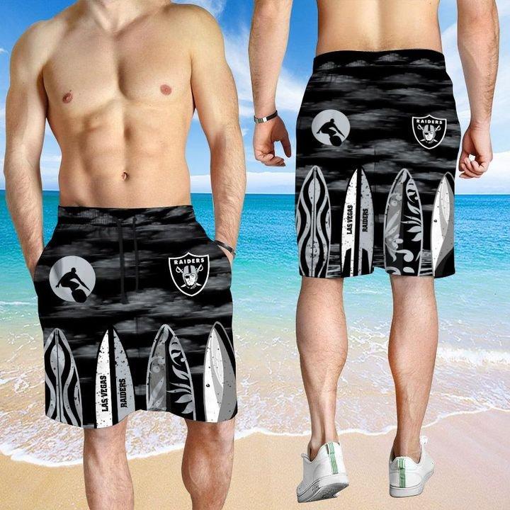 Las Vegas Raiders HAWAIIAN And Beach SHORT3