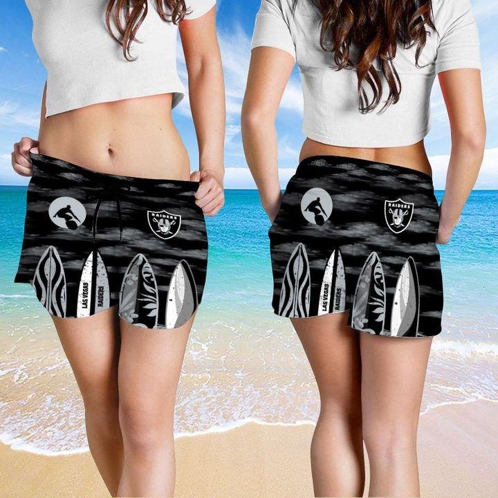 Las Vegas Raiders HAWAIIAN And Beach SHORT4