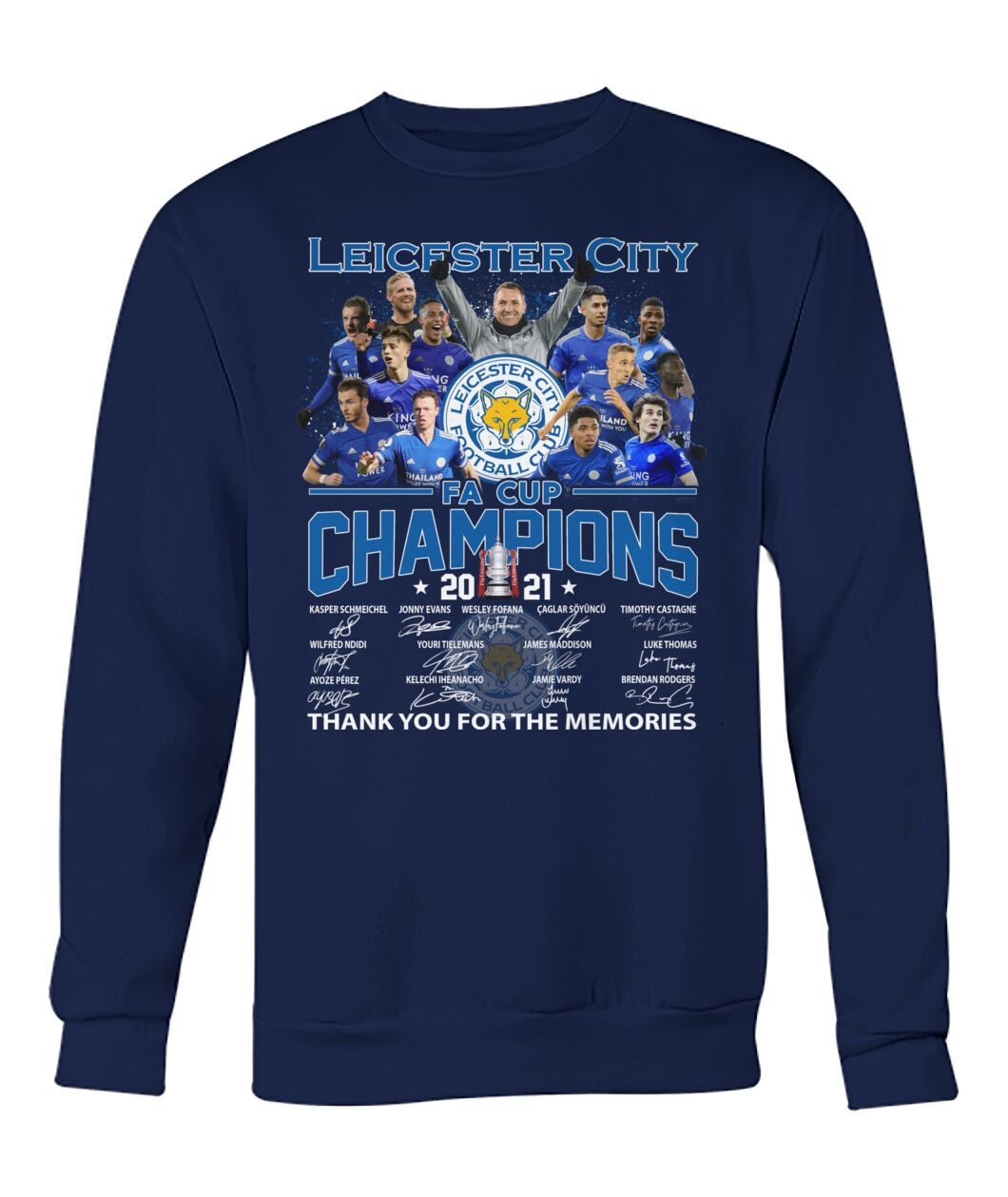 Leicester city FA cup champions 2021 shirt 12