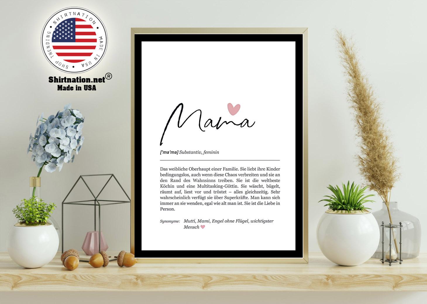 Mama substantiv feminin das weibliche einer familie poster 11
