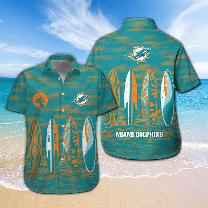 Miami Dolphins HAWAIIAN And Beach SHORT