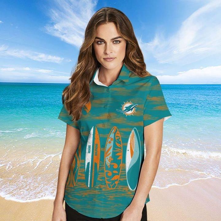 Miami Dolphins HAWAIIAN And Beach SHORT2