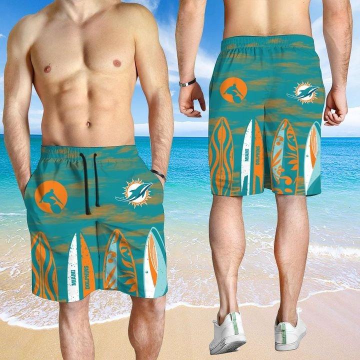 Miami Dolphins HAWAIIAN And Beach SHORT3