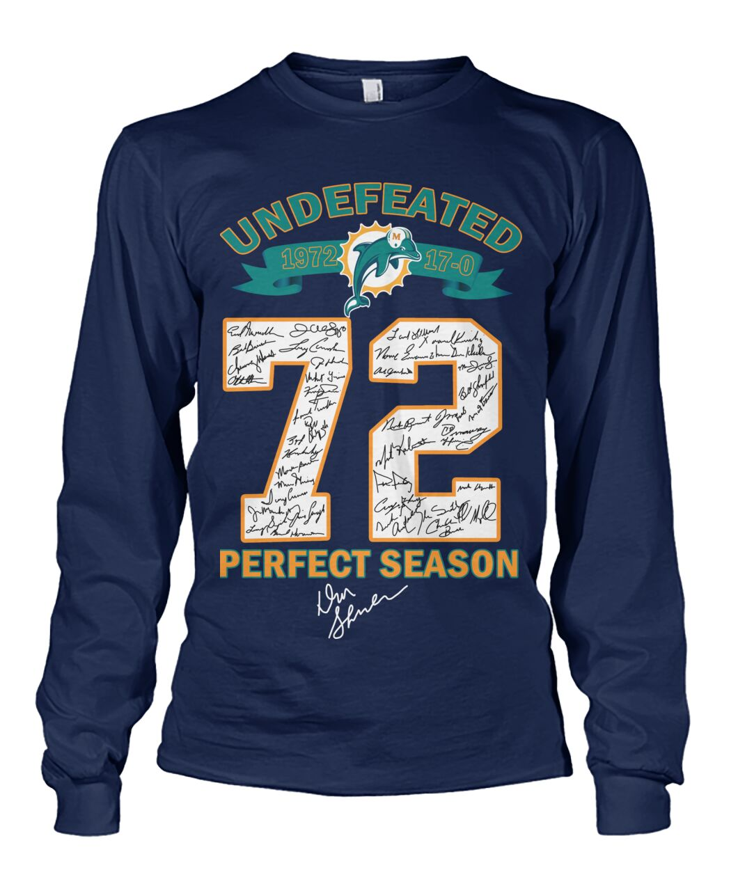 Miami Dolphins Undefeated 72 perfect season shirt 11