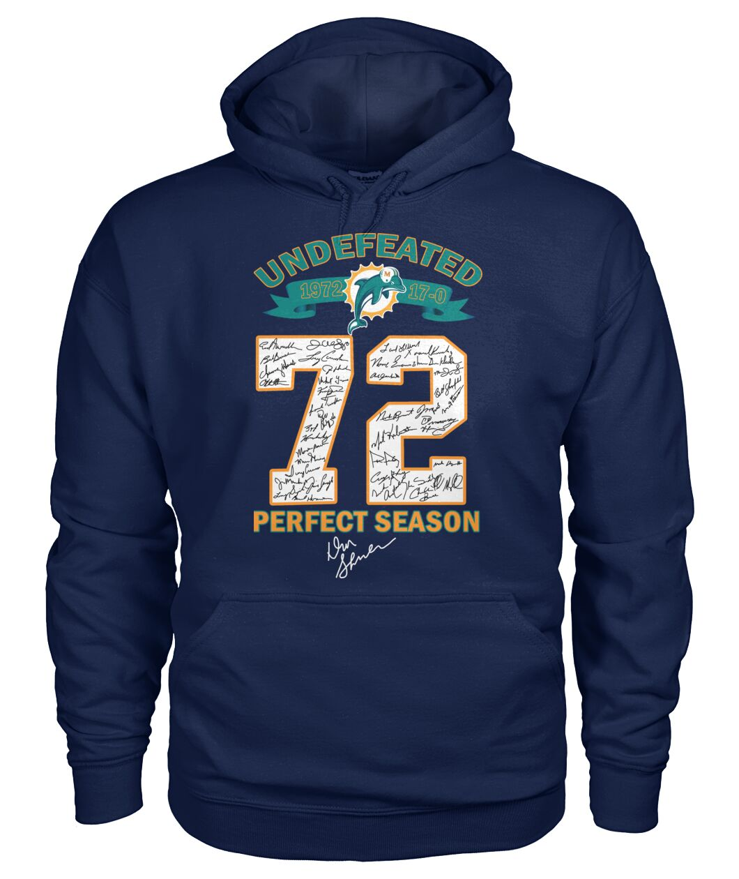 Miami Dolphins Undefeated 72 perfect season shirt 13