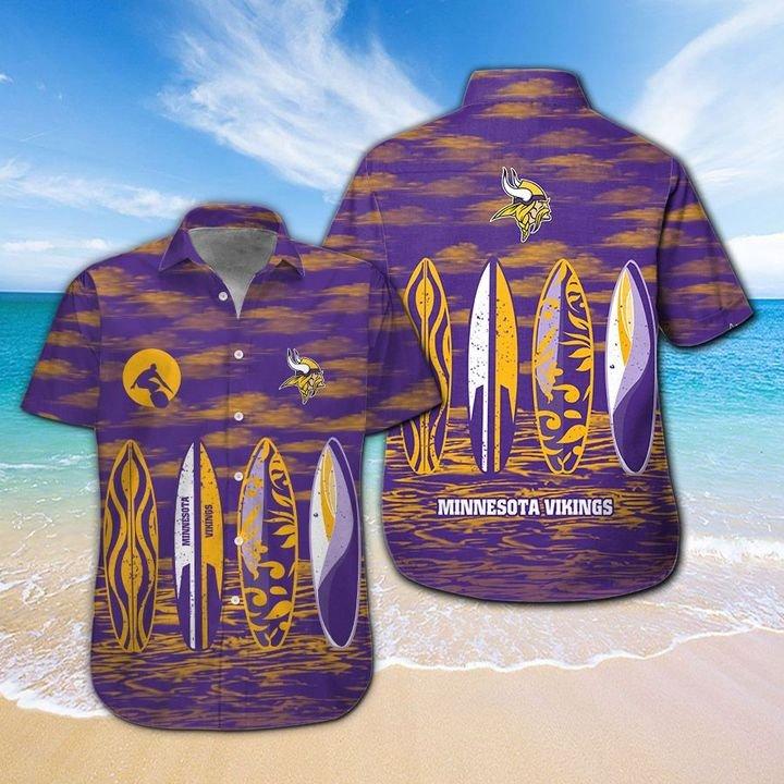 Minnesota Vikings HAWAIIAN And Beach SHORT