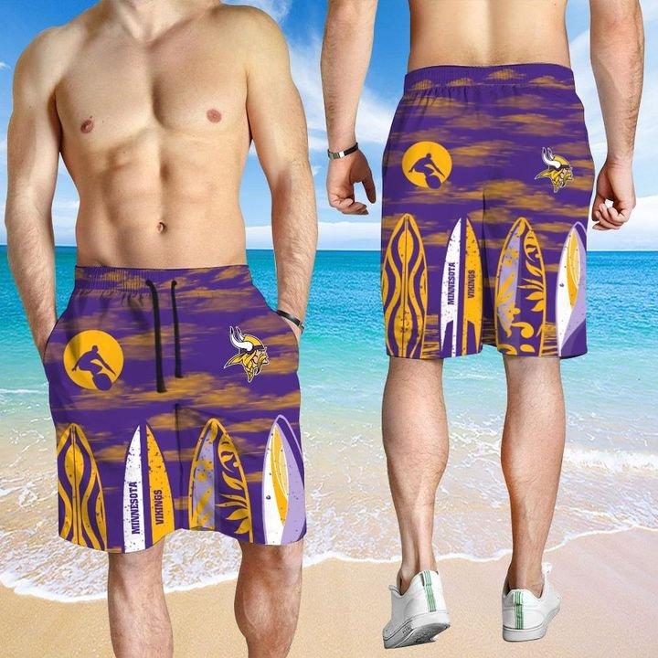Minnesota Vikings HAWAIIAN And Beach SHORT3