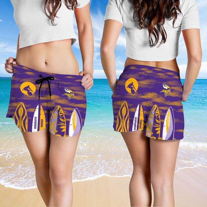 Minnesota Vikings HAWAIIAN And Beach SHORT4