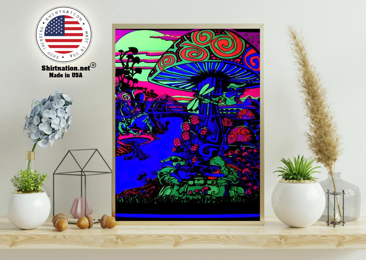 Mushroom Trippy black light poster 11