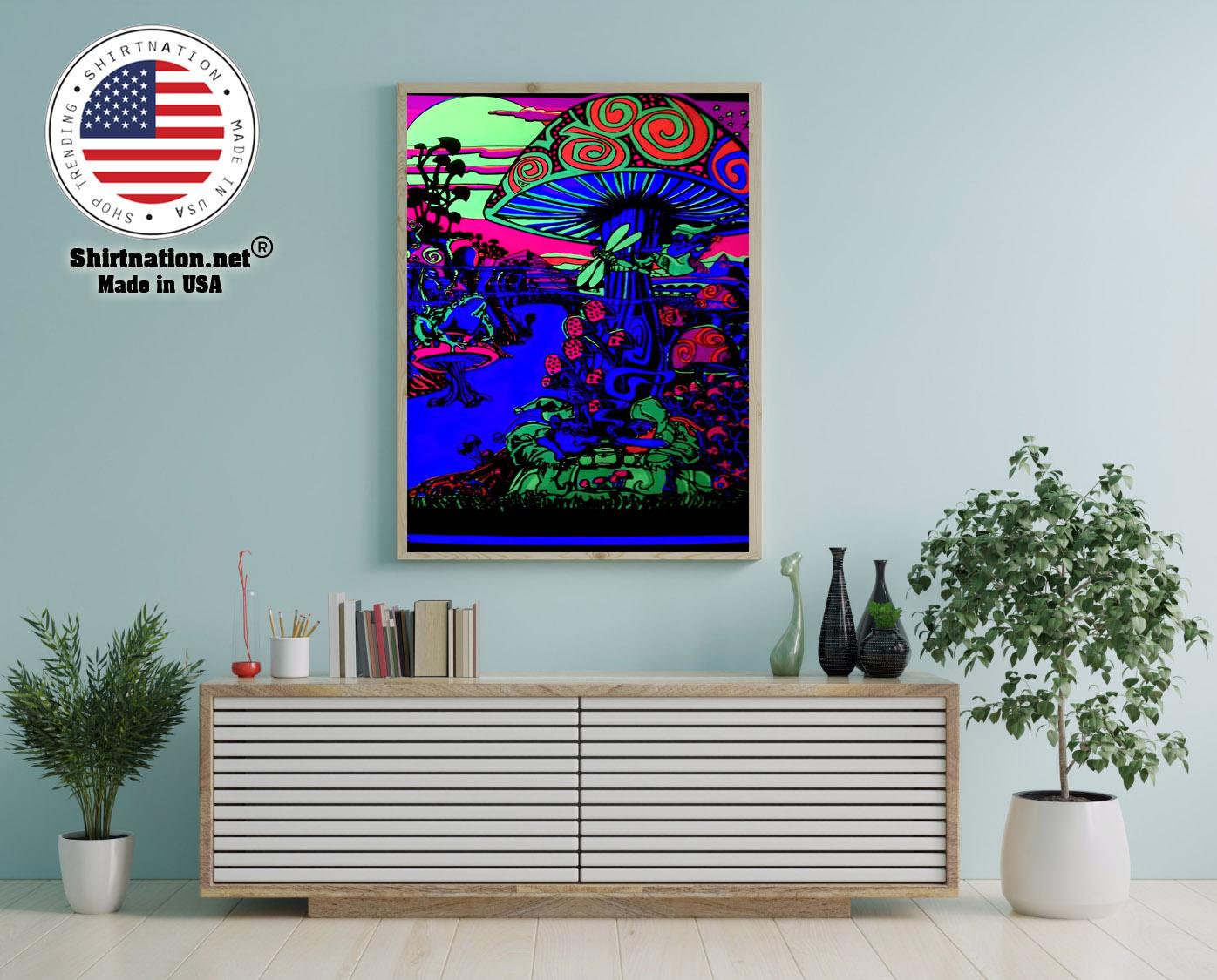 Mushroom Trippy black light poster 12
