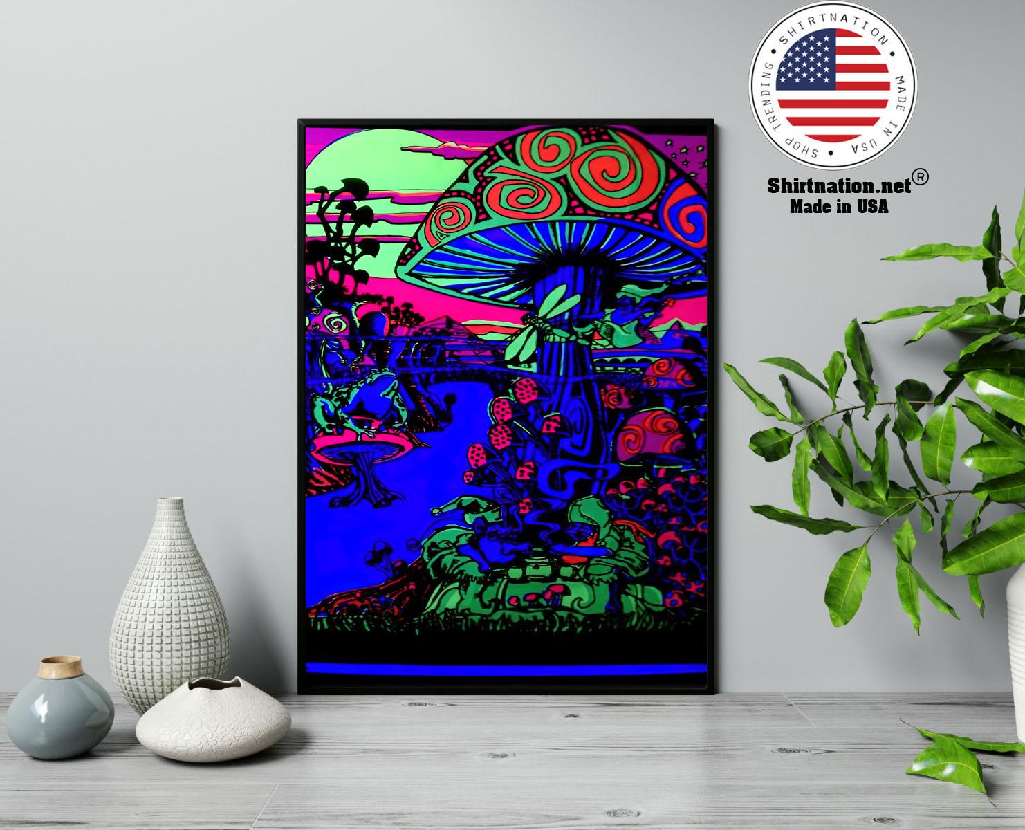 Mushroom Trippy black light poster 13