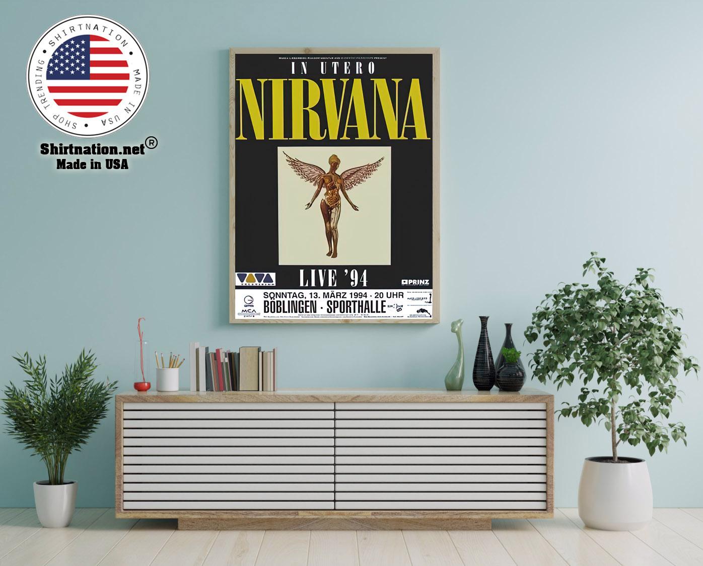 Nirvana live 94 Boblingen poster 12