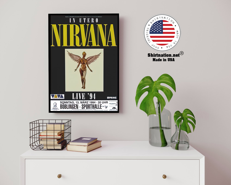 Nirvana live 94 Boblingen poster 13