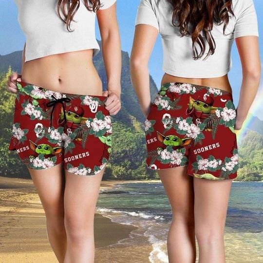 Oklahoma Sooners And Yoda Hawaiian And Beach Short4