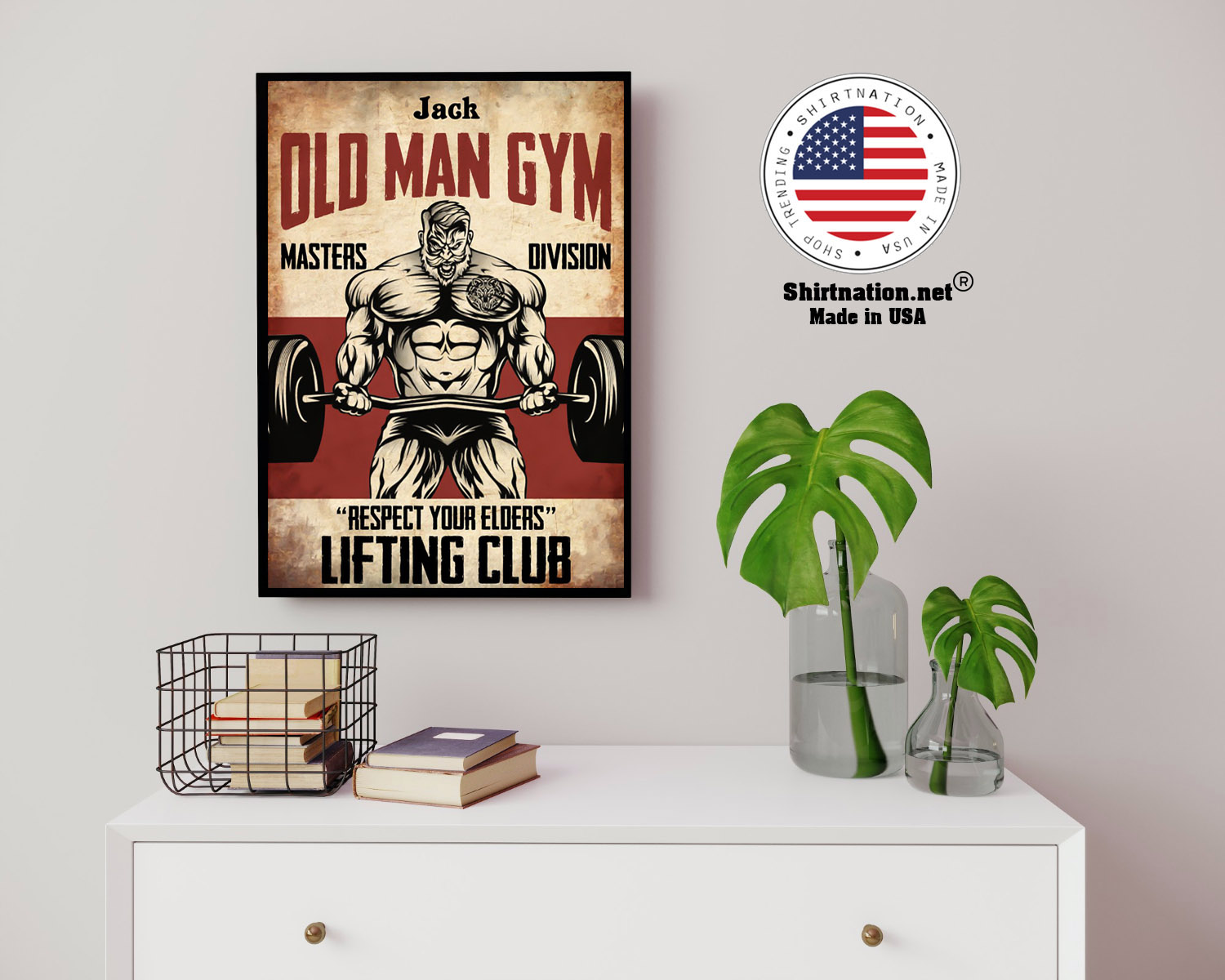 Old man gym masters division respect your elders lifting club poster 14 2