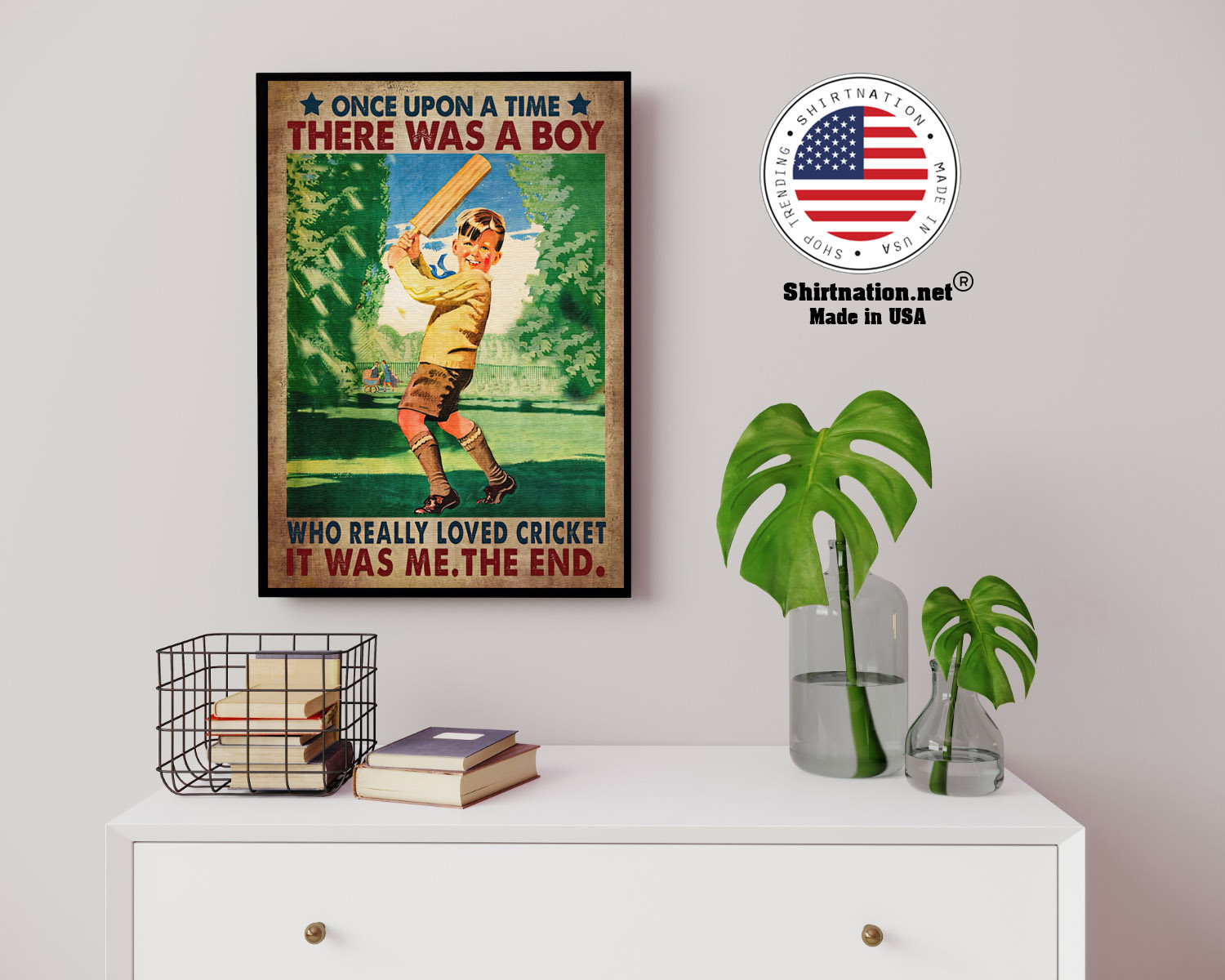 Once upon a time there was a boy who really loved cricket poster 14 1