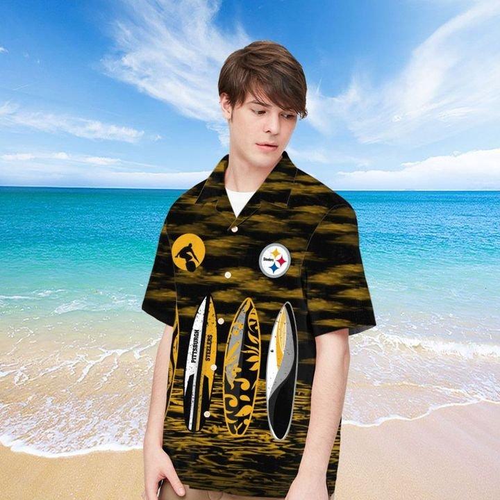 Pittsburgh Steelers HAWAIIAN And Beach SHORT1