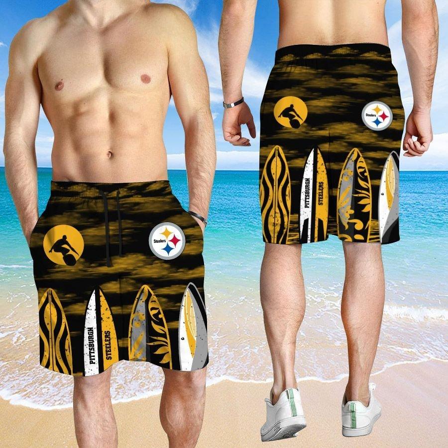 Pittsburgh Steelers HAWAIIAN And Beach SHORT4