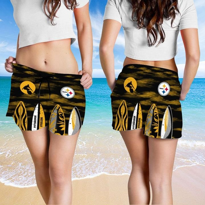 Pittsburgh Steelers HAWAIIAN And Beach SHORT5
