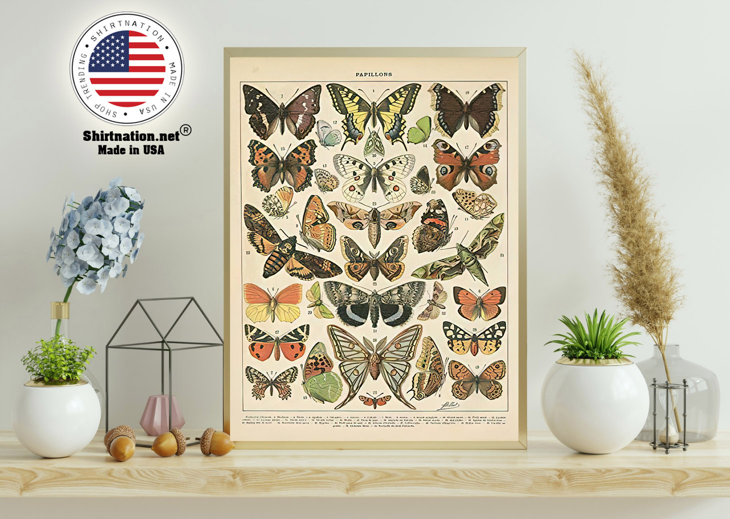 Popular vintage french types of papillons butterflies poster 11