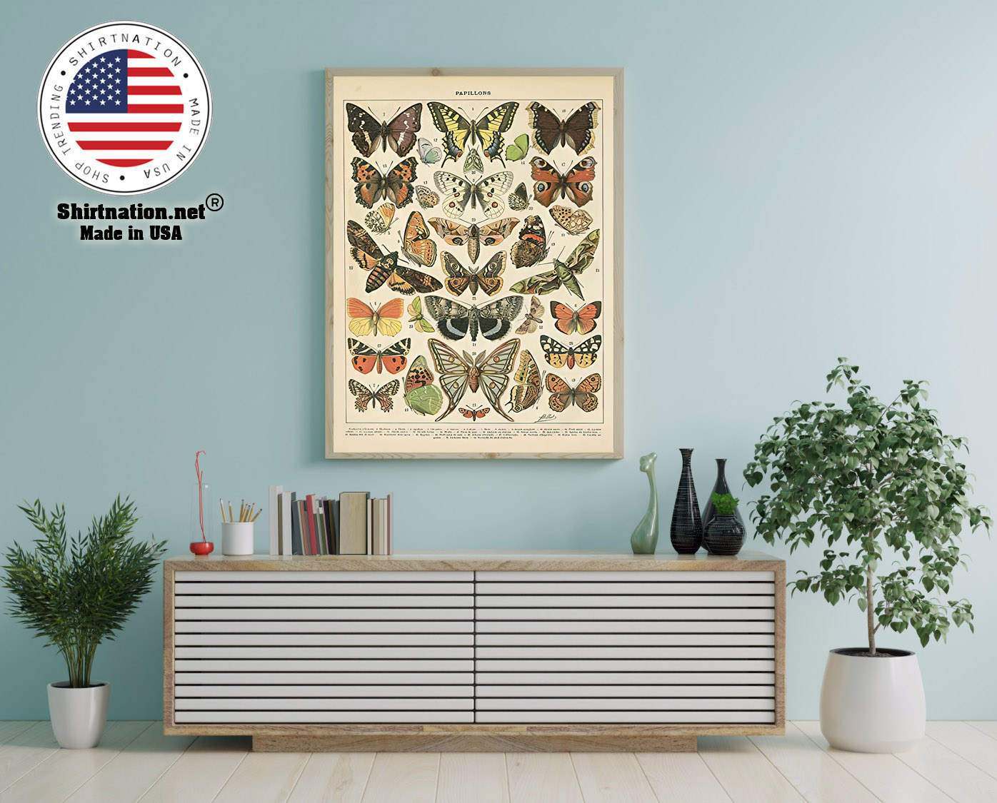 Popular vintage french types of papillons butterflies poster 12
