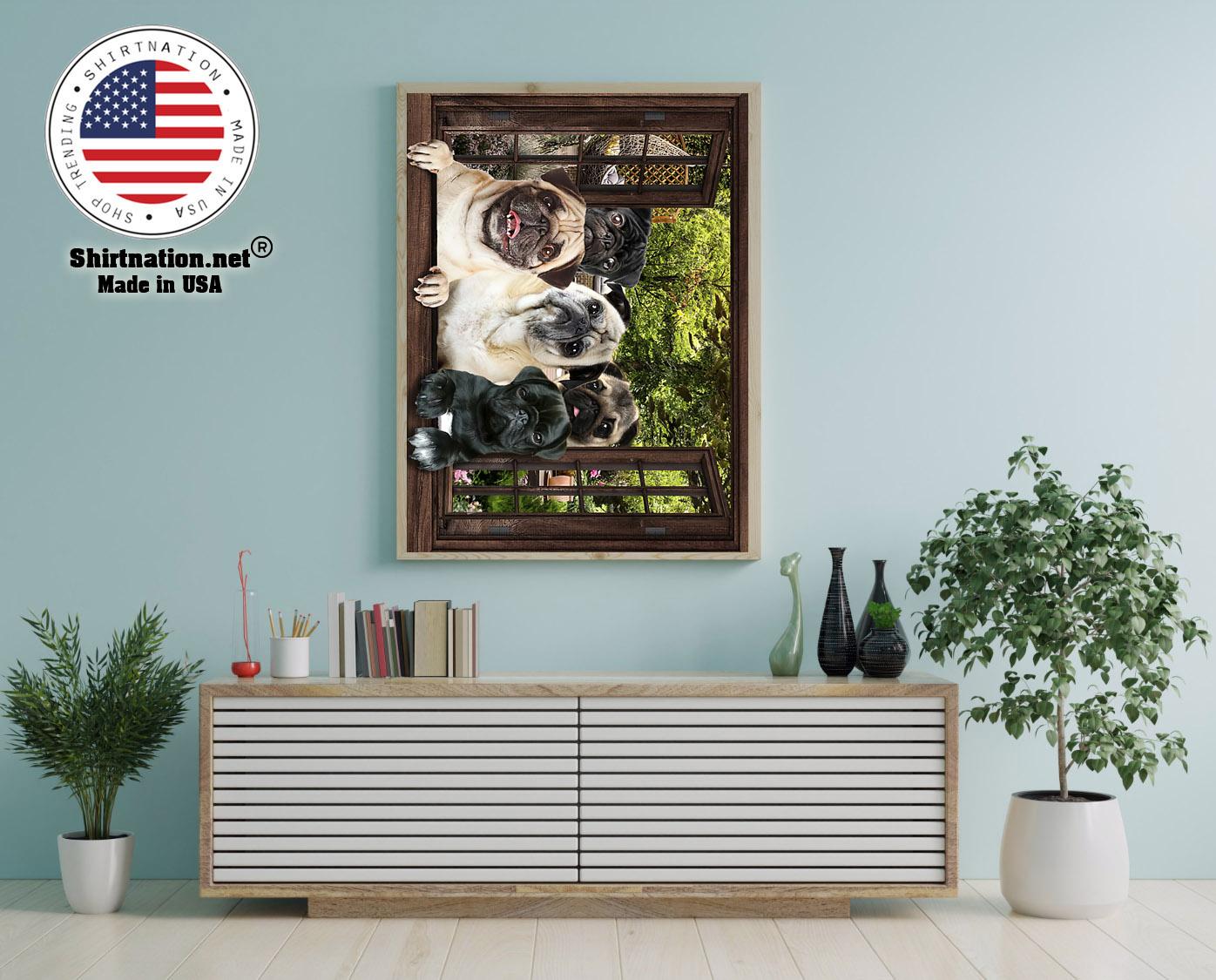 Pugs window 3d poster 12