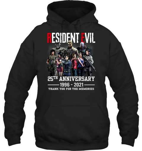 Resident evil 25th anniversary 1996 2021 thank you for the memories shirt 11
