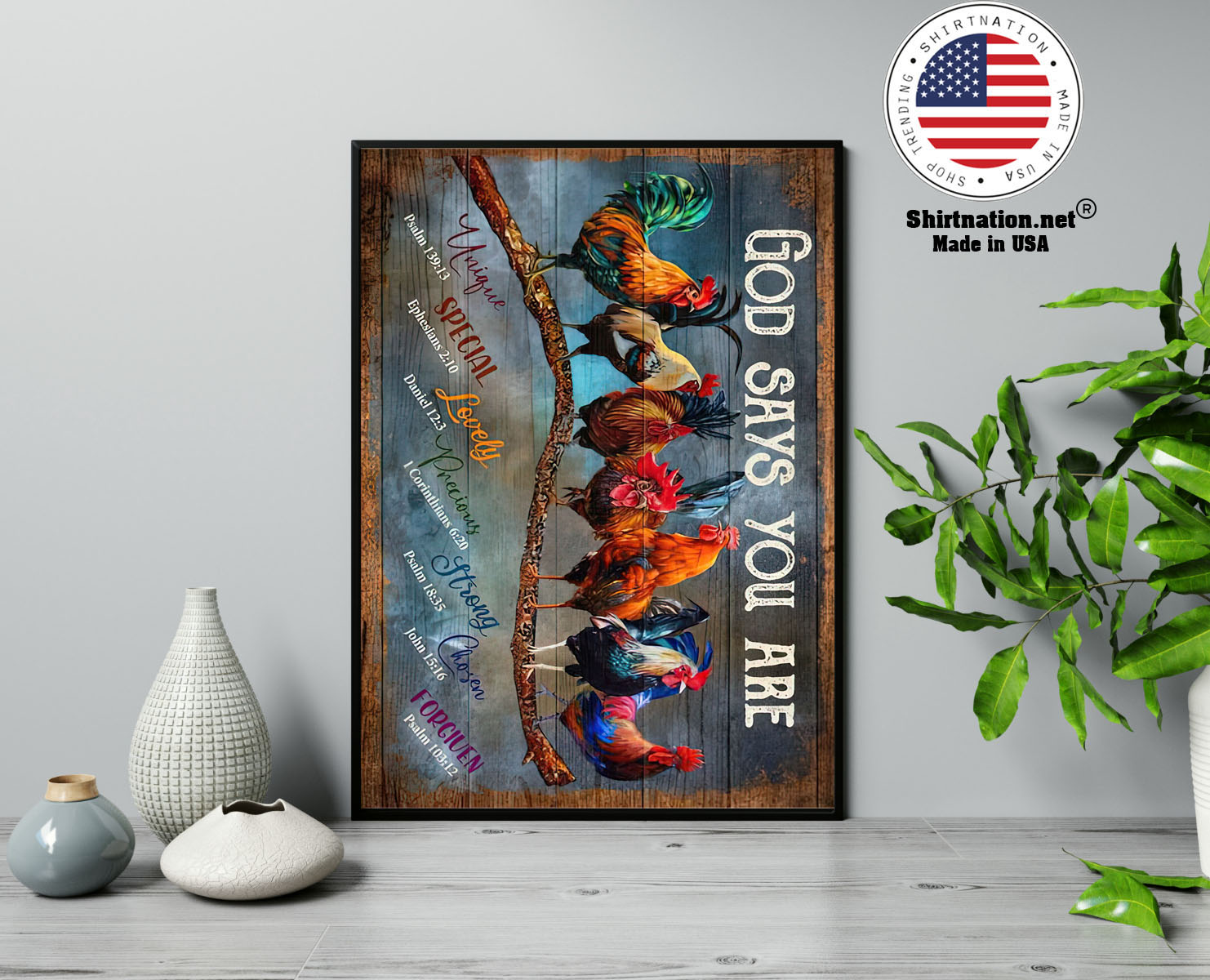 Rooster god says you are poster 13