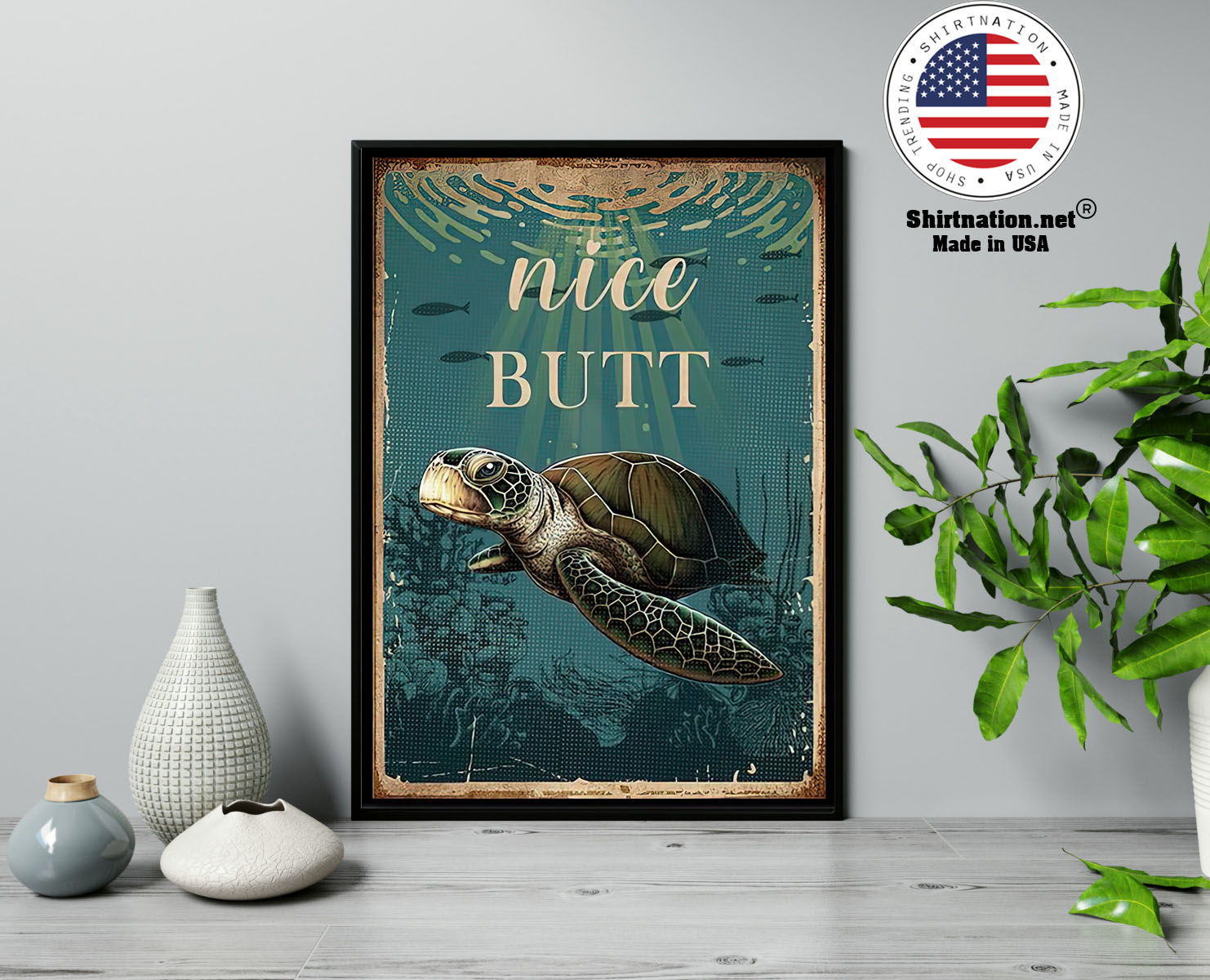 Sea turtle nice butt poster 13