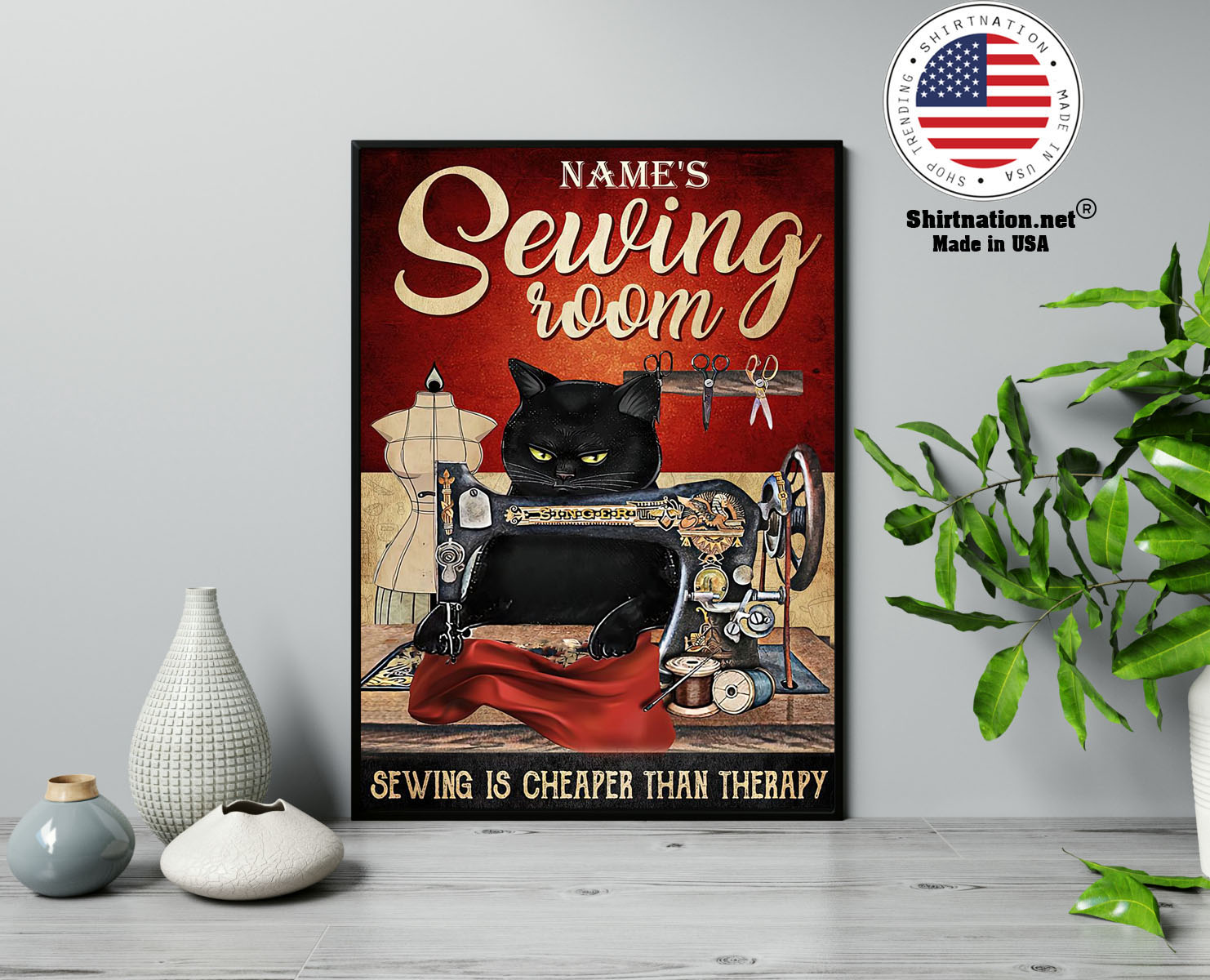 Sewing room sewing is cheaper than therapy poster 13