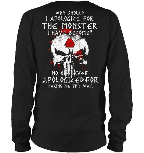 Skull Why Should I Apologize For The Monster Have Become Shirt2