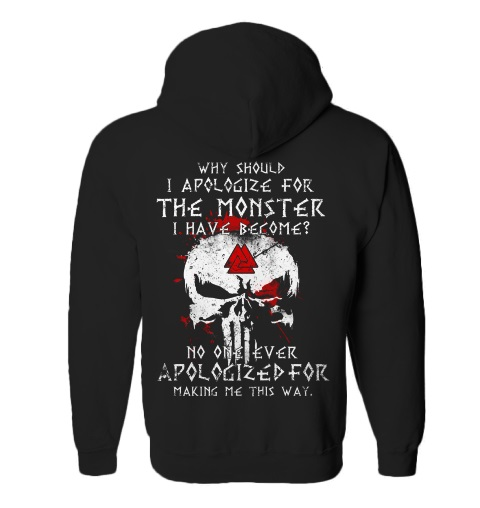 Skull Why Should I Apologize For The Monster Have Become Shirt3