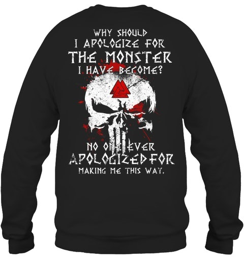 Skull Why Should I Apologize For The Monster Have Become Shirt4
