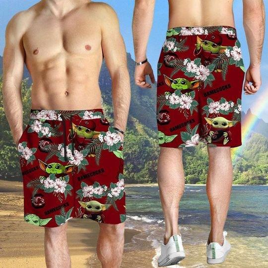 South Carolina Gamecocks And Yoda Hawaiian And Beach Short3