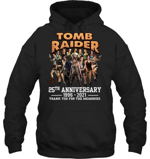 Tom raider 25th anniversary 1996 2021 thank you for the memories shirt 11