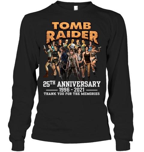 Tom raider 25th anniversary 1996 2021 thank you for the memories shirt 12