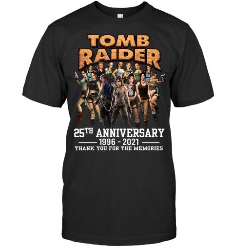 Tom raider 25th anniversary 1996 2021 thank you for the memories shirt as