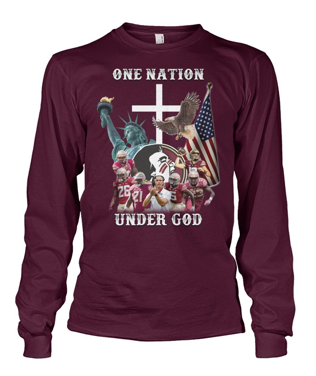 Washington Redskins One nation under god shirt 13