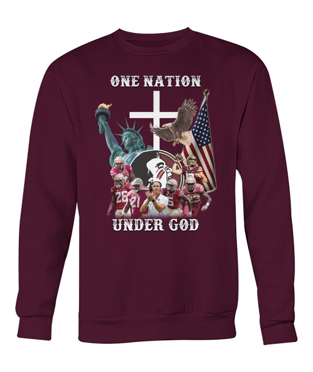 Washington Redskins One nation under god shirt 14